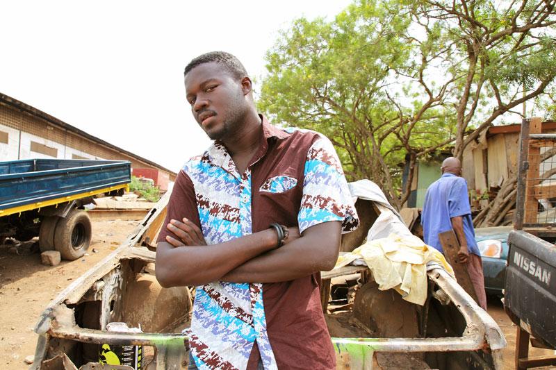Mutombo Talks Poetry in Ghana